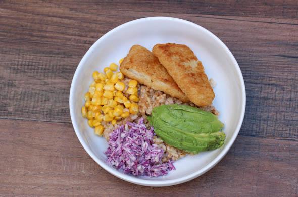 The Three Bite Rule - Crispy Fish Rice Bowl