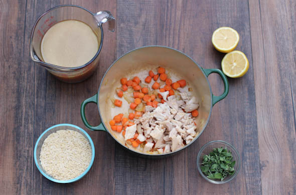 The Three Bite Rule - Greek Orzo Chicken Soup