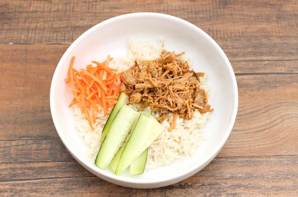 Thai Peanut Coconut Rice Bowl - The Three Bite Rule