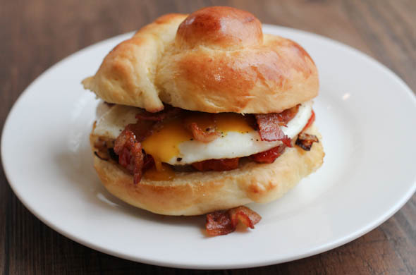 The Three Bite Rule - Breakfast Brioche Sandwich