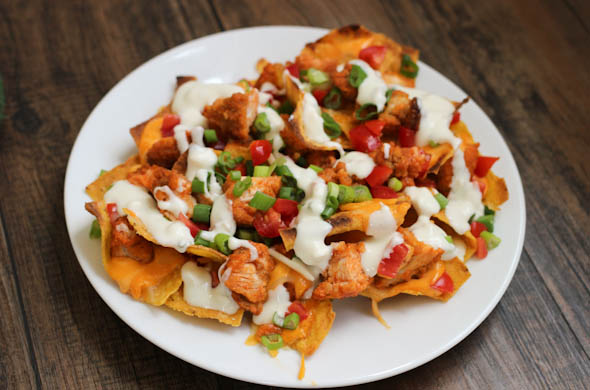 The Three Bite Rule - Buffalo Chicken Nachos