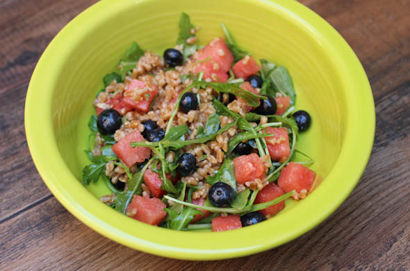 The Three Bite Rule - Farro & Blueberry Salad