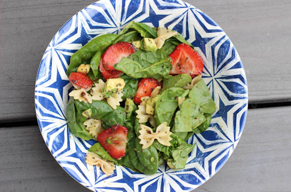 The Three Bite Rule - Not Your Average Spinach Strawberry Salad