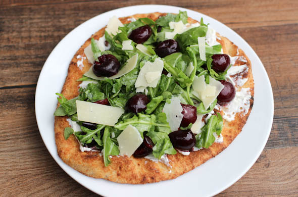 The Three Bite Rule - Cherry Arugula Flatbread
