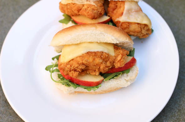 The Three Bite Rule - Chicken & Apple Sandwiches