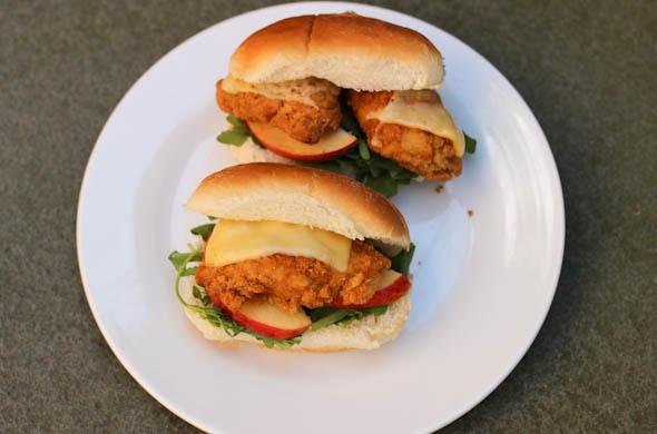 The Three Bite Rule - Chicken & Apple Sandwiches