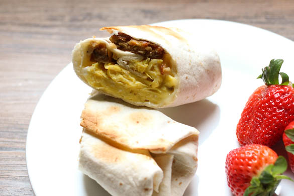 The Three Bite Rule - Bfast Burritos for Lunch