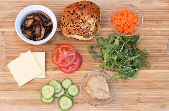 The Three Bite Rule - Hummus & Veggie Sandwich
