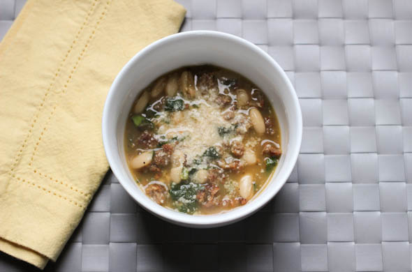 The Three Bite Rule - White Bean & Sausage Soup