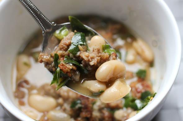 The Three Bite Rule - White Bean & Sausage Soup