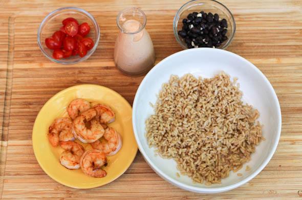 The Three Bite Rule - Chipotle Shrimp Rice Bowl