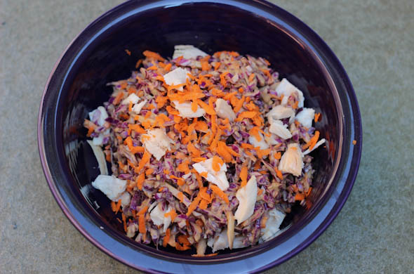 The Three Bite Rule - Cabbage Slaw with Peanut Sauce