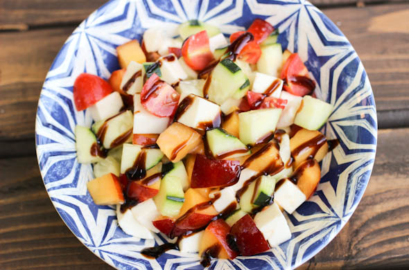 The Three Bite Rule - Peach & Mozzarella Salad