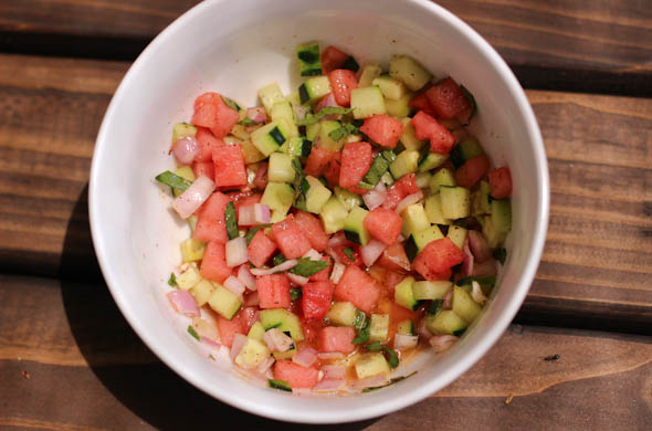 The Three Bite Rule - Watermelon Mint Relish