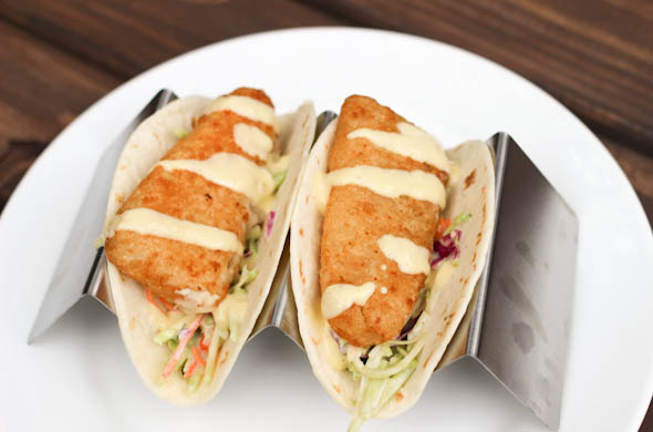 The Three Bite Rule - Fish Tacos with Mango Sauce