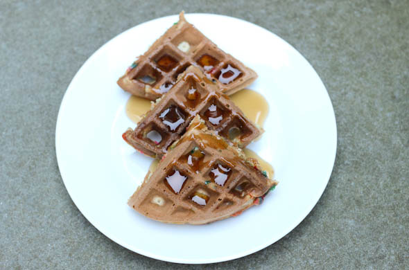 The Three Bite Rule - Funfetti Waffles
