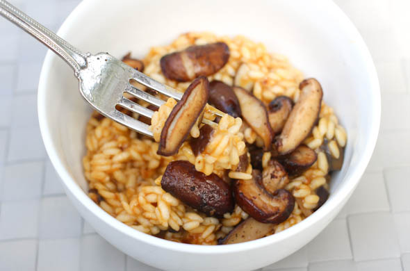 The Three Bite Rule - Mushroom Risotto