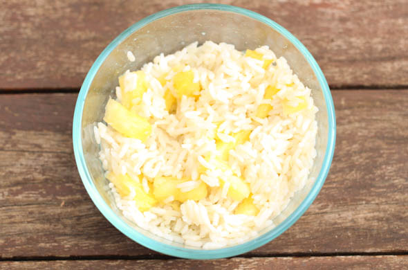 The Three Bite Rule - Pineapple Coconut Rice Bowls