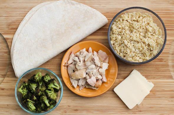 The Three Bite Rule - Chicken, Broccoli & Rice Warm Wraps