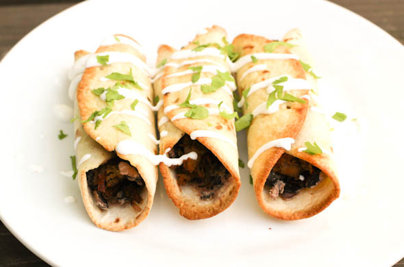 The Three Bite Rule - Rolled Tacos