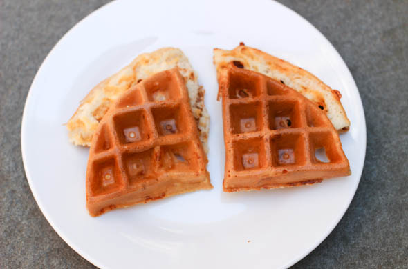 The Three Bite Rule - Waffle Breakfast Burger