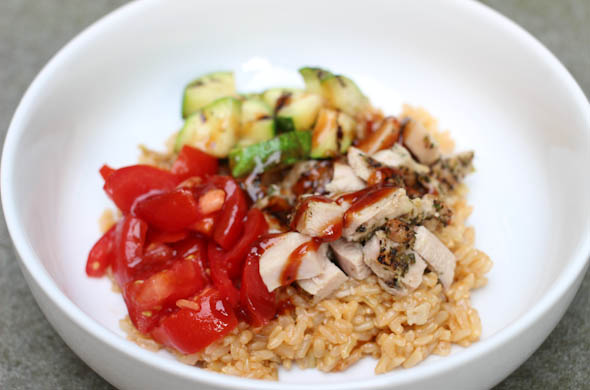 The Three Bite Rule - BBQ Chicken Rice Bowl