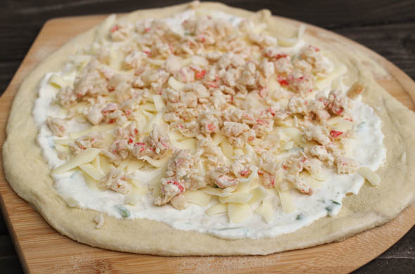 The Three Bite Rule - Crab Rangoon Pizza
