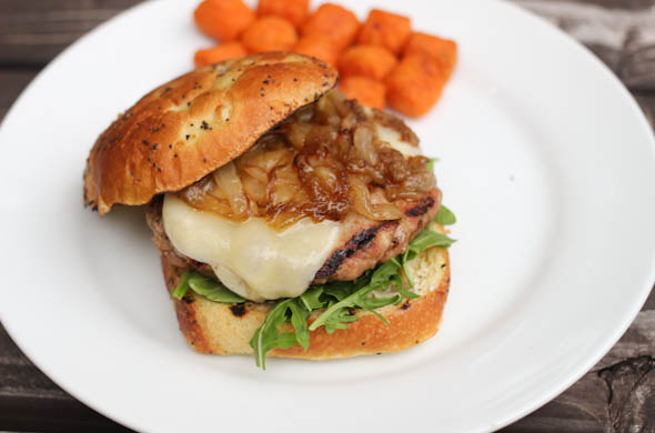The Three Bite Rule - French Onion Soup Burger