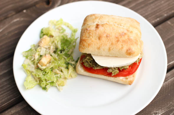 The Three Bite Rule - Pulled Pesto Chicken Sandwiches