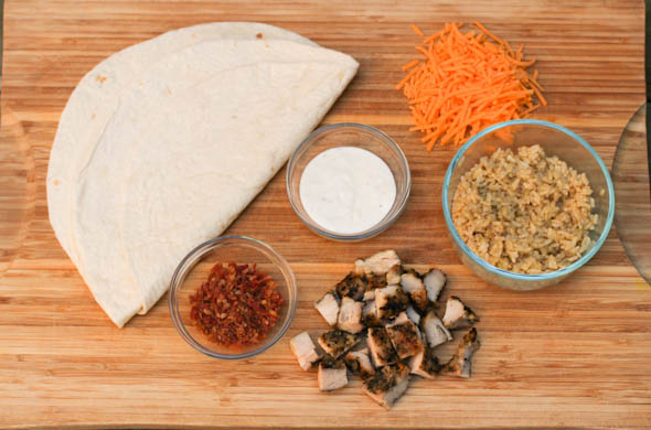 The Three Bite Rule - Chicken Bacon Ranch Burrito